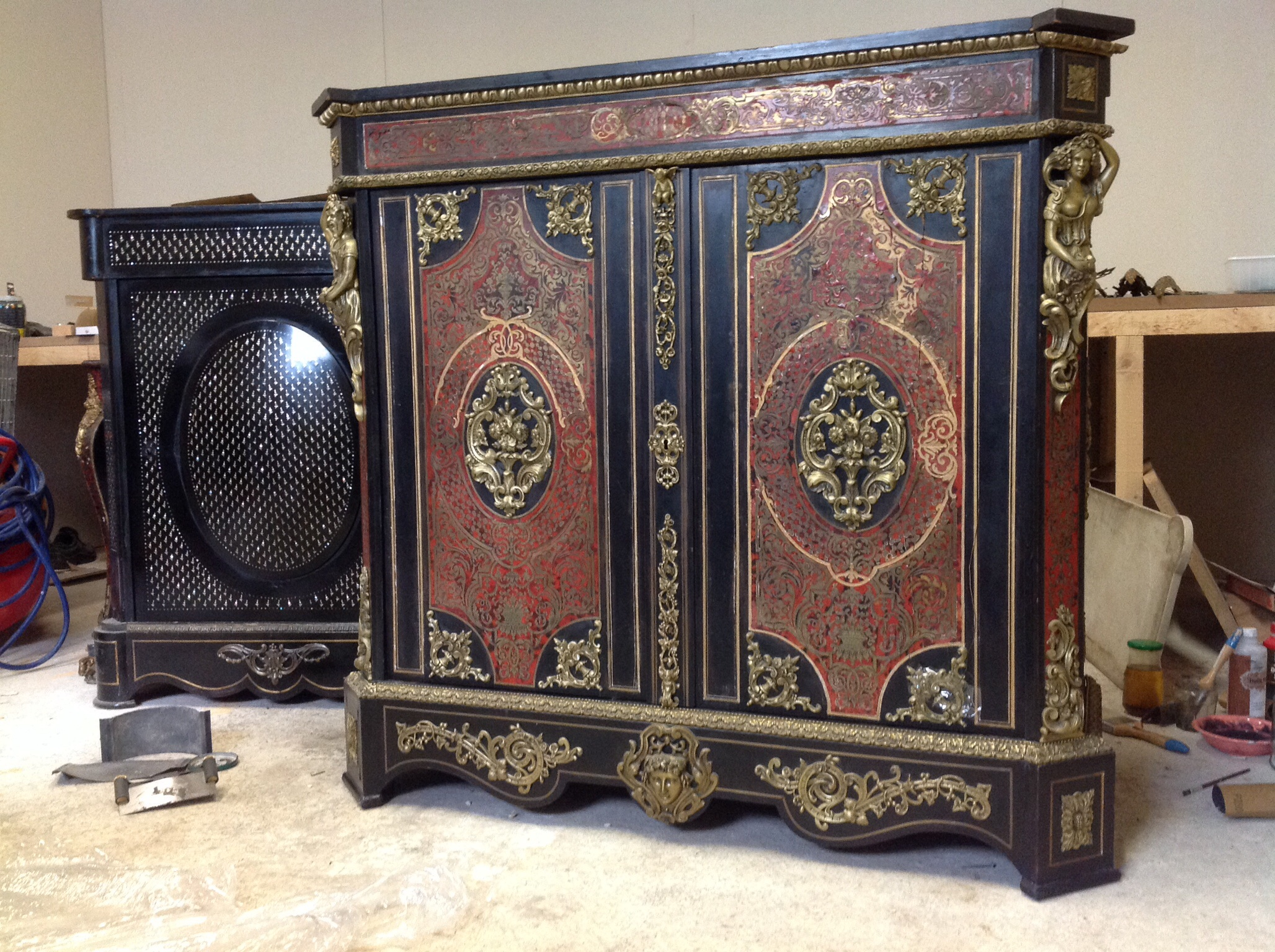 meuble d 39 appui boulle rutene antiquit s. Black Bedroom Furniture Sets. Home Design Ideas